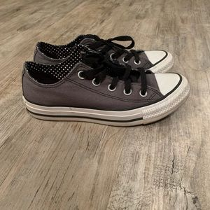 Converse All-Stars Gray w B&W polka dots